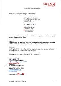 hawe certyfikat - Hawe Hydraulik SE.