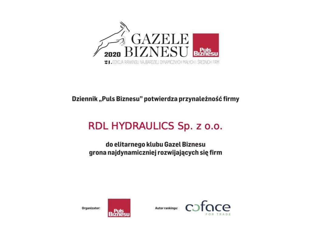 gazele 2020 85680420 1024x768 - RDL Hydraulics Gazelą Biznesu 2020