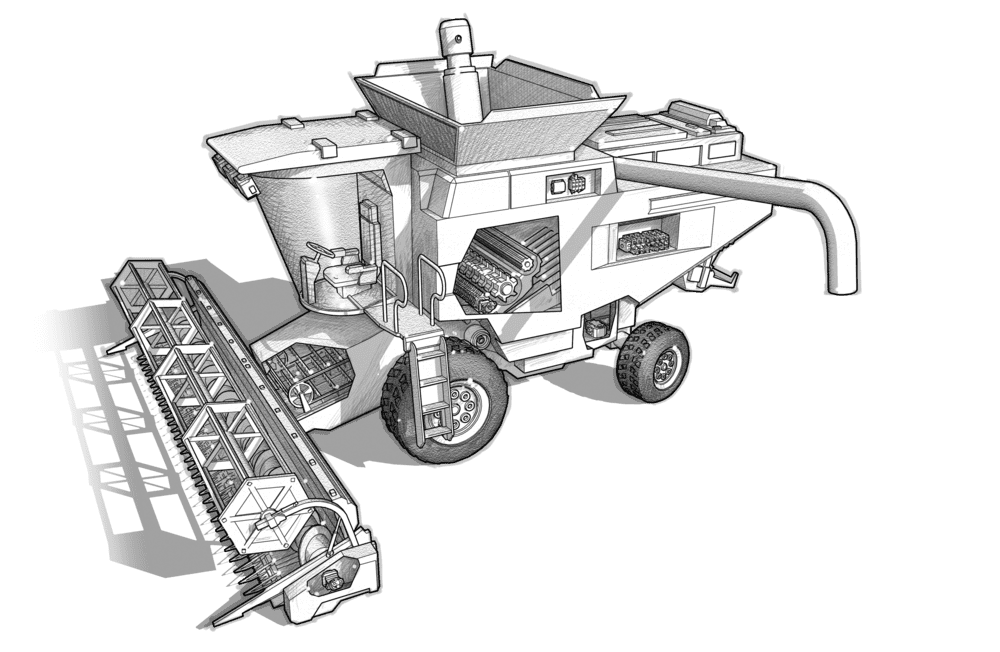 combine harvester - Hawe Hydraulik SE.