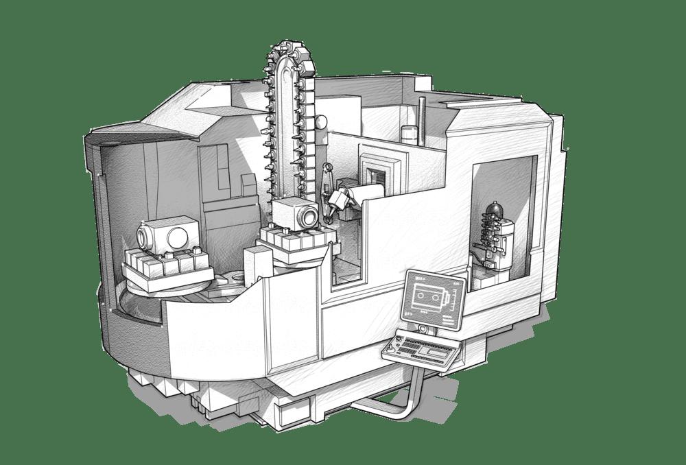 machining center - Hawe Hydraulik SE.