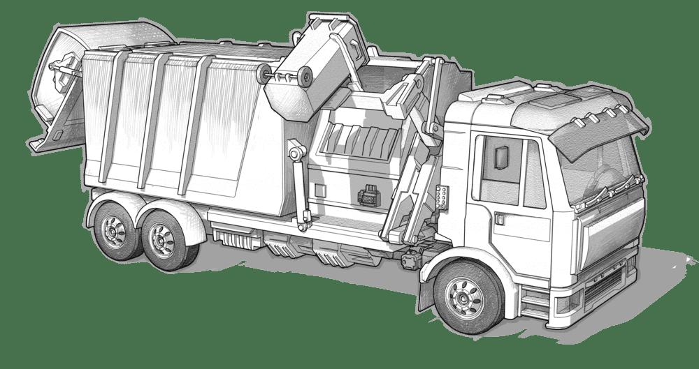 refuse truck - Hawe Hydraulik SE.