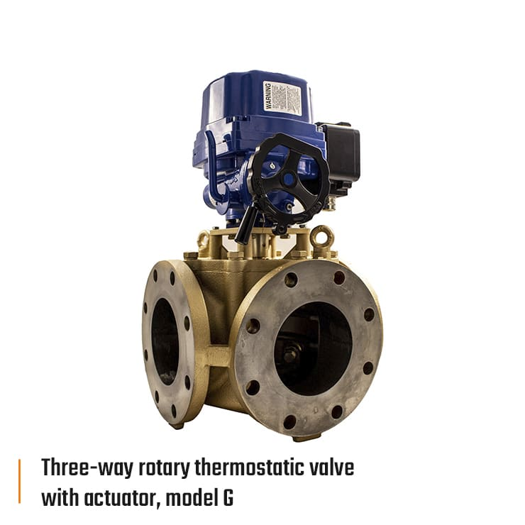 rdl amot three way rotary thermostatic valve with actuator model g eng 740x740px - Amot